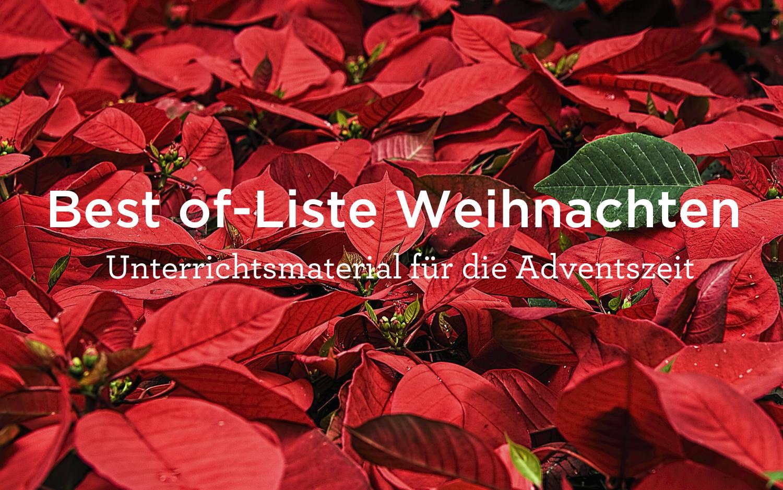 Arbeitsblätter zum Thema: Best of-Liste Weihnachten - meinUnterricht.de
