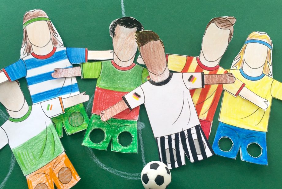 Fußballer-Fingerpuppe zum Ausdrucken und Ausschneiden