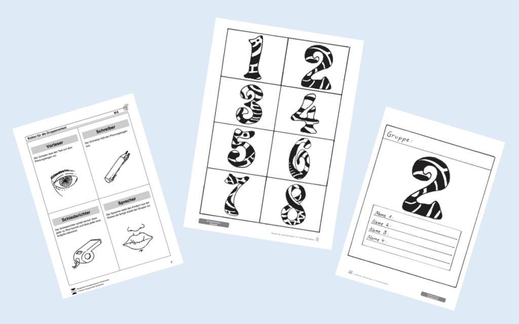 Vorlagen: Rollenkarten und Signalkarten für Gruppenarbeit