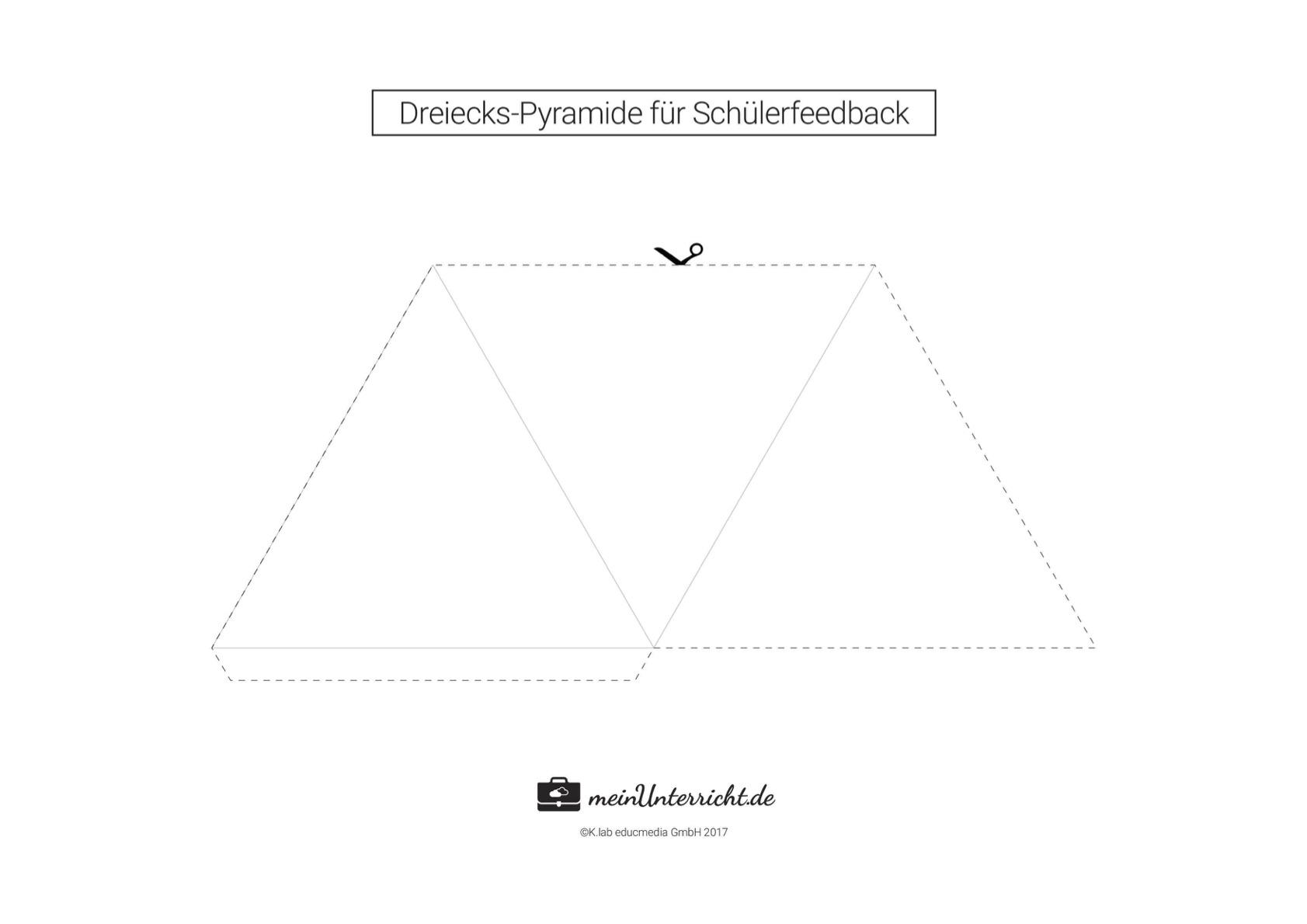 Dreiecks-Pyramide für Schülerfeedback