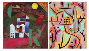 Das Bild zeigt zwei Werke des Künstlers Paul Klee. In diesem Abschnitt werden kreative Ideen zum Thema Projektarbeit vorgestellt.