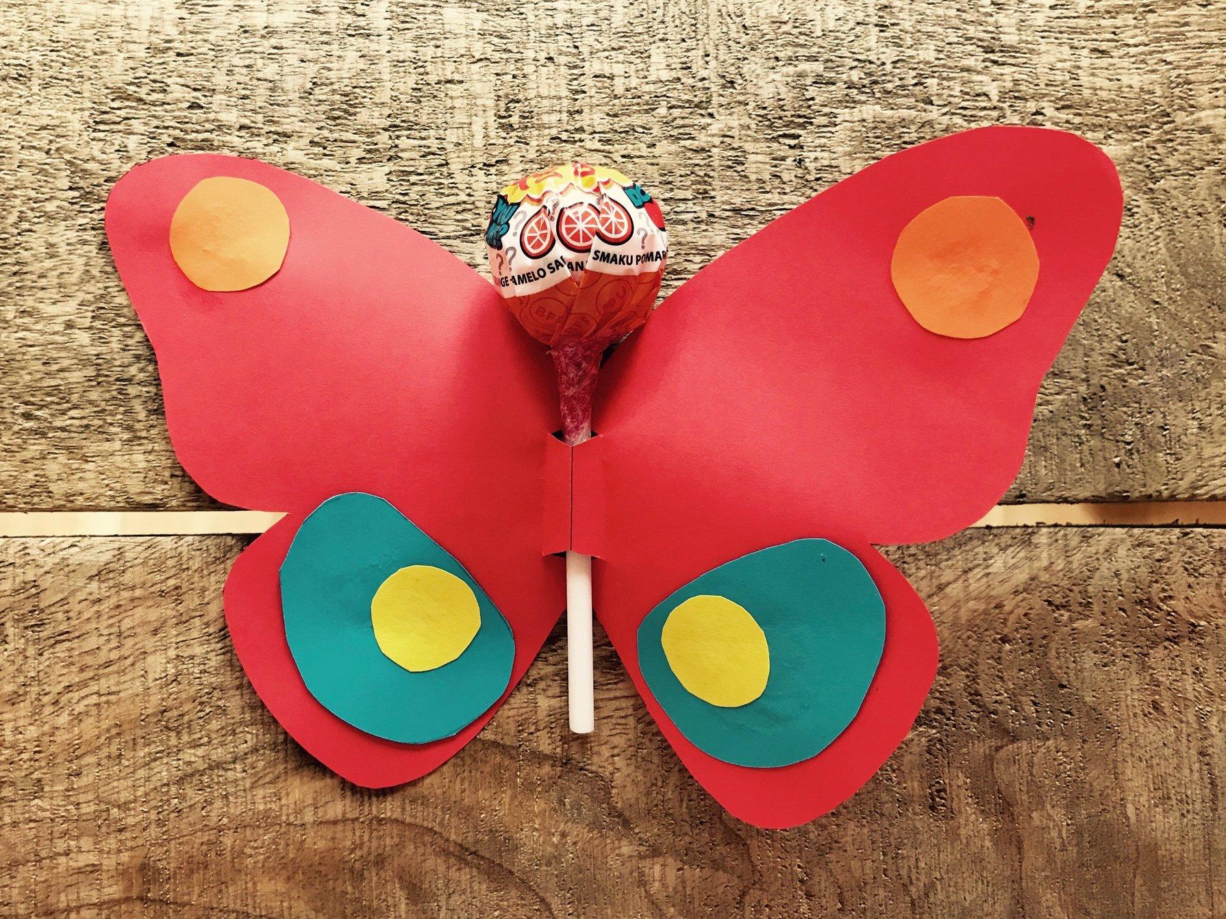 Geschenke für Schüler: Schmetterlings-Vorlage