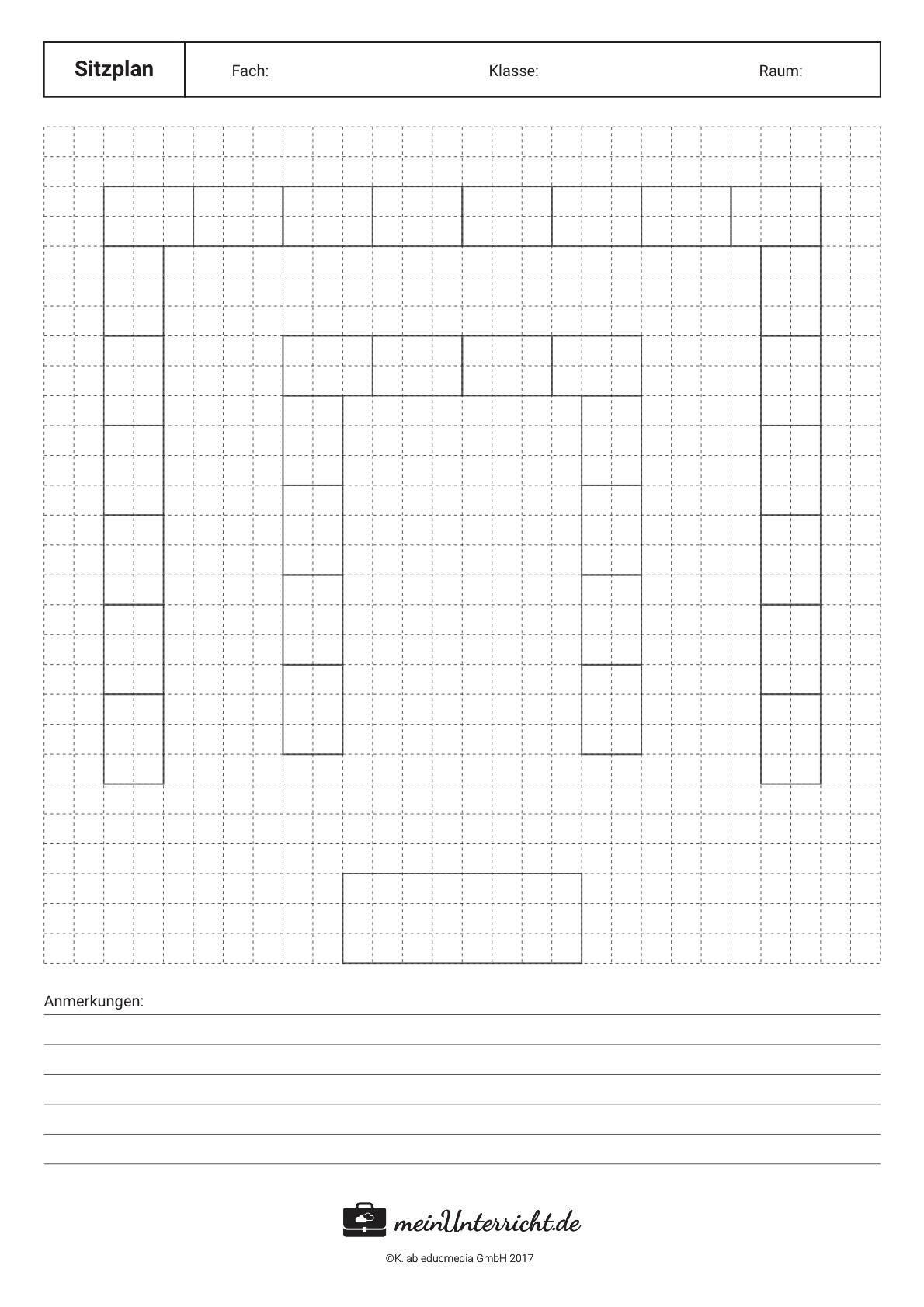 Sitzordnung in der Schule: Die doppelte U-Form