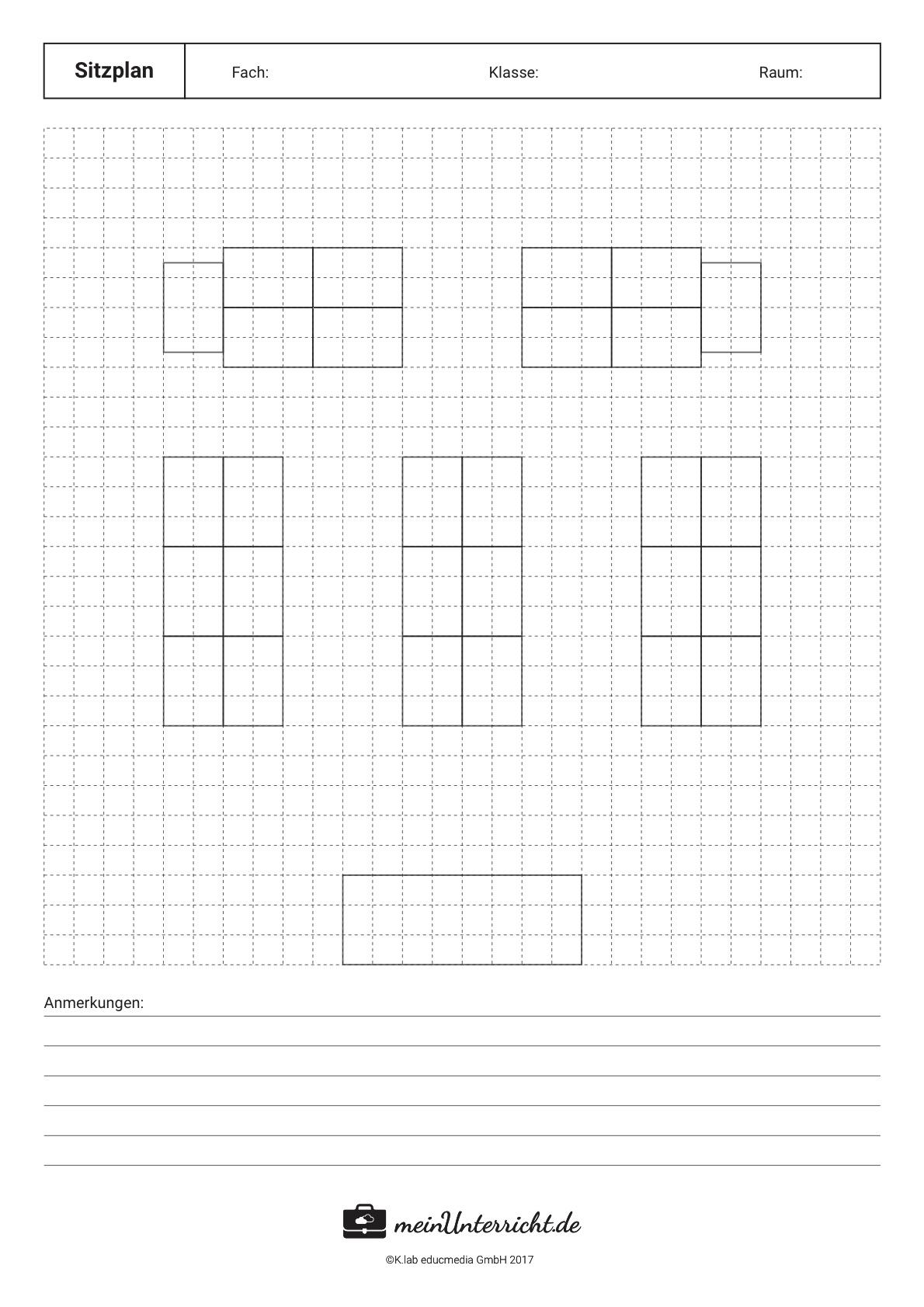 Sitzordnung in der Schule: Inseln/6er Gruppen
