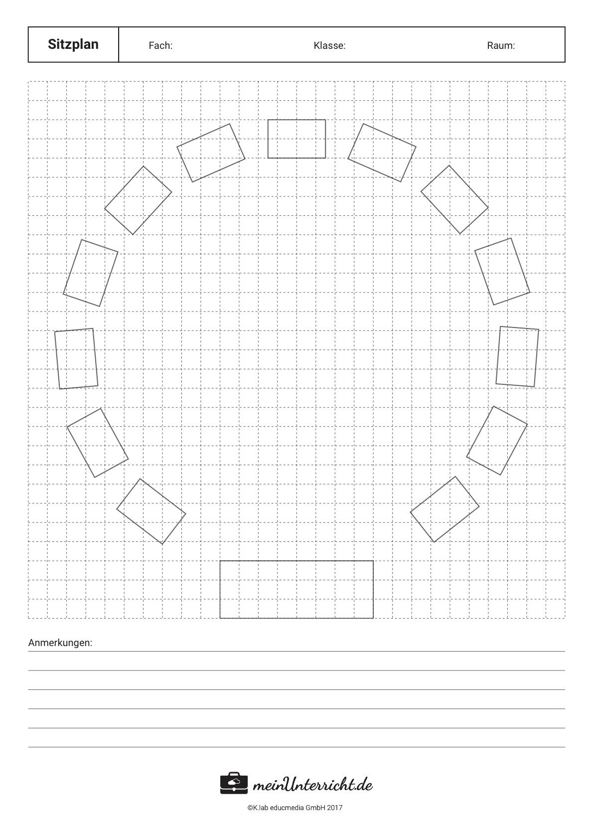 Sitzordnung in der Schule: Kreis
