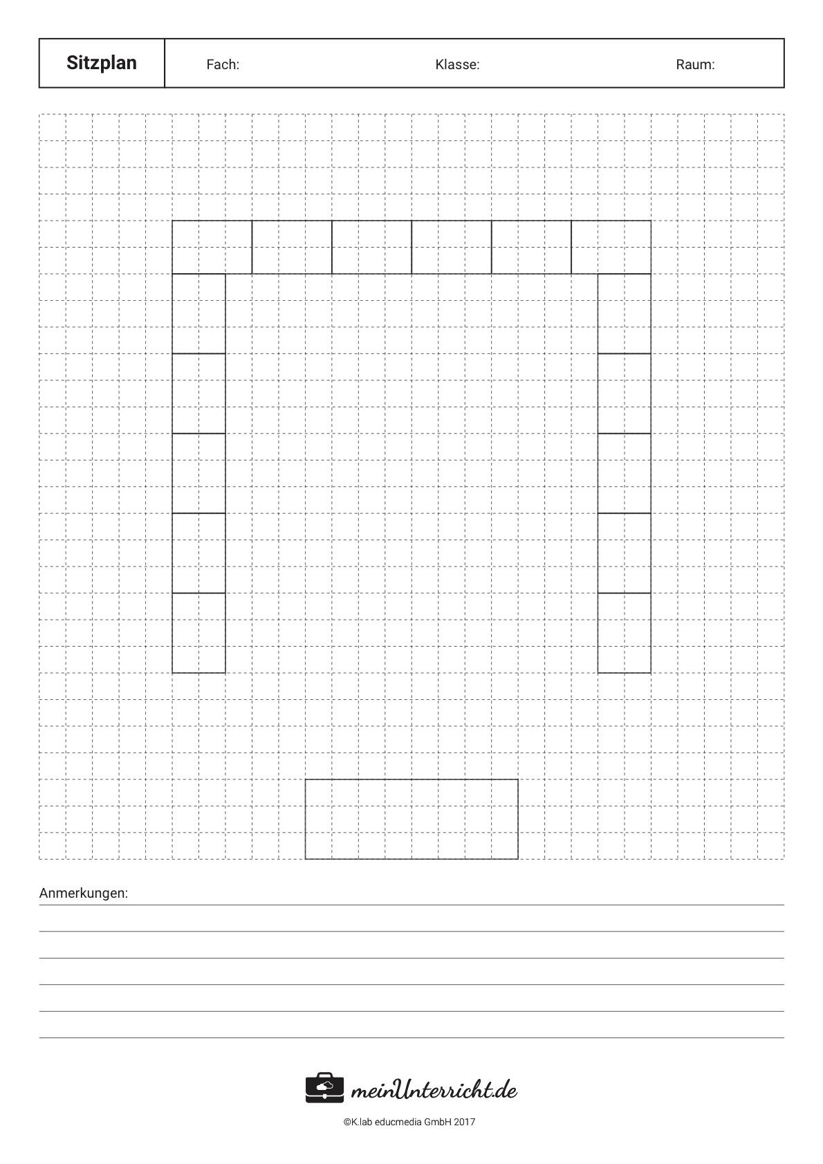 Sitzordnung in der Schule: Die U-Form