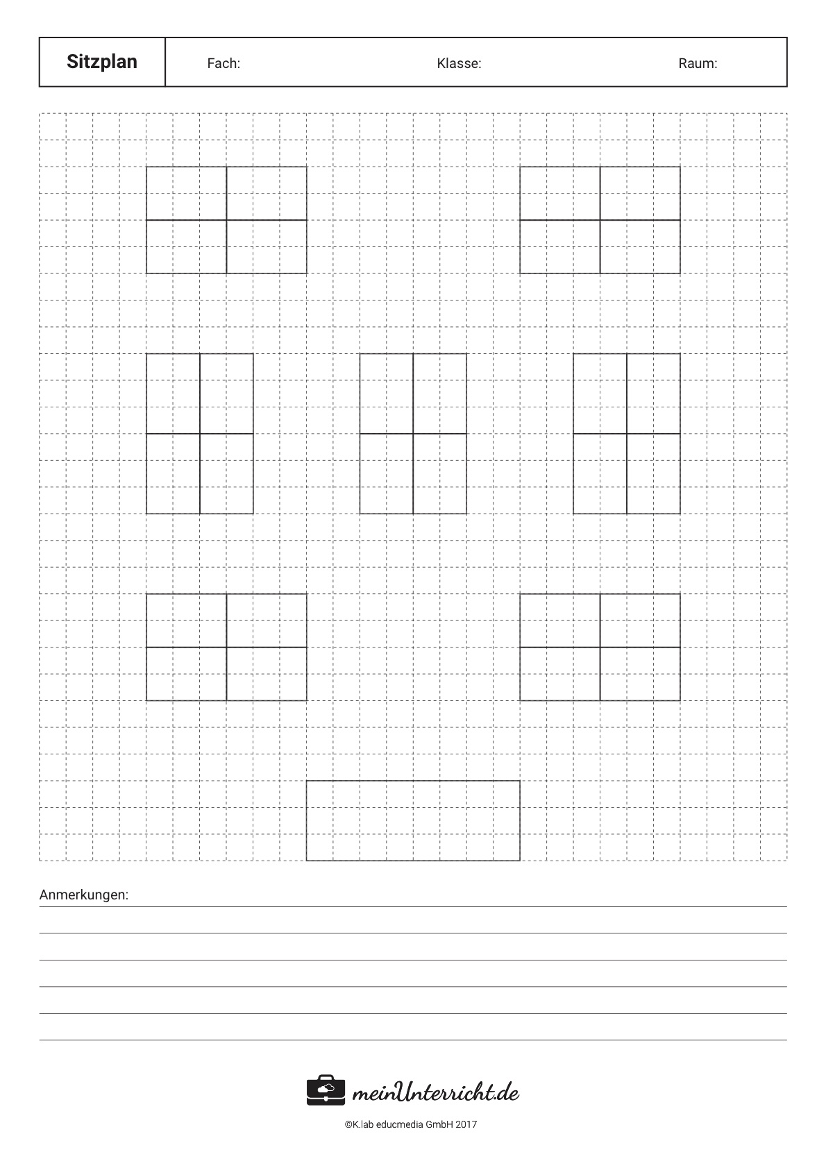Sitzordnung in der Schule: kleine Inseln/4er Gruppen