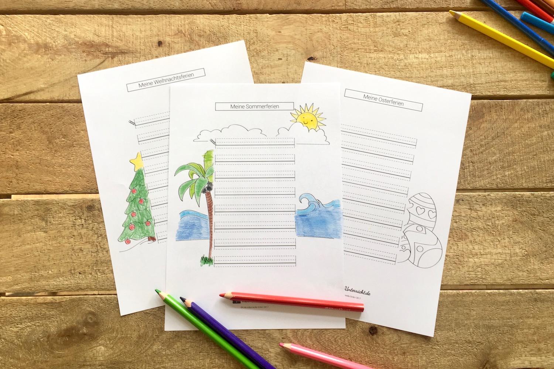 Ferienerlebnisse erzählen: Unterrichtsideen und Druckvorlagen ...