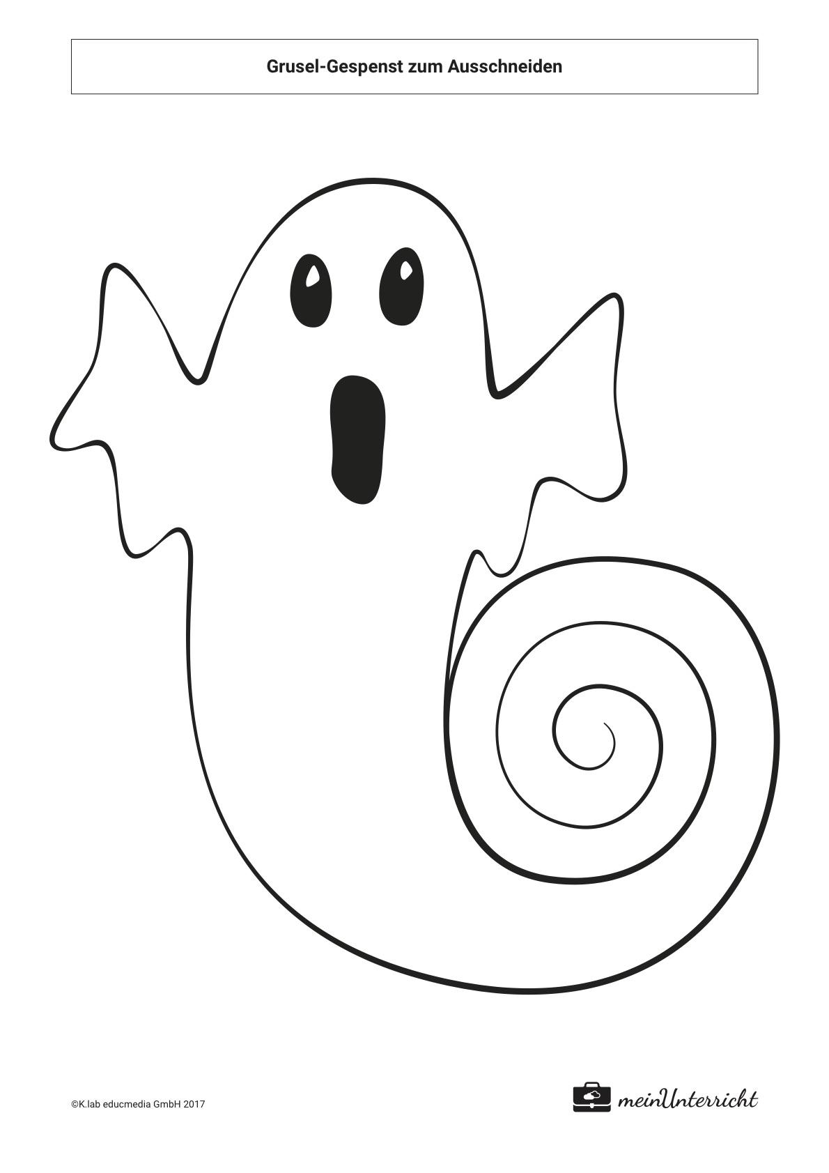 Halloween Grusel Gespenst Basteln Meinunterrichtde