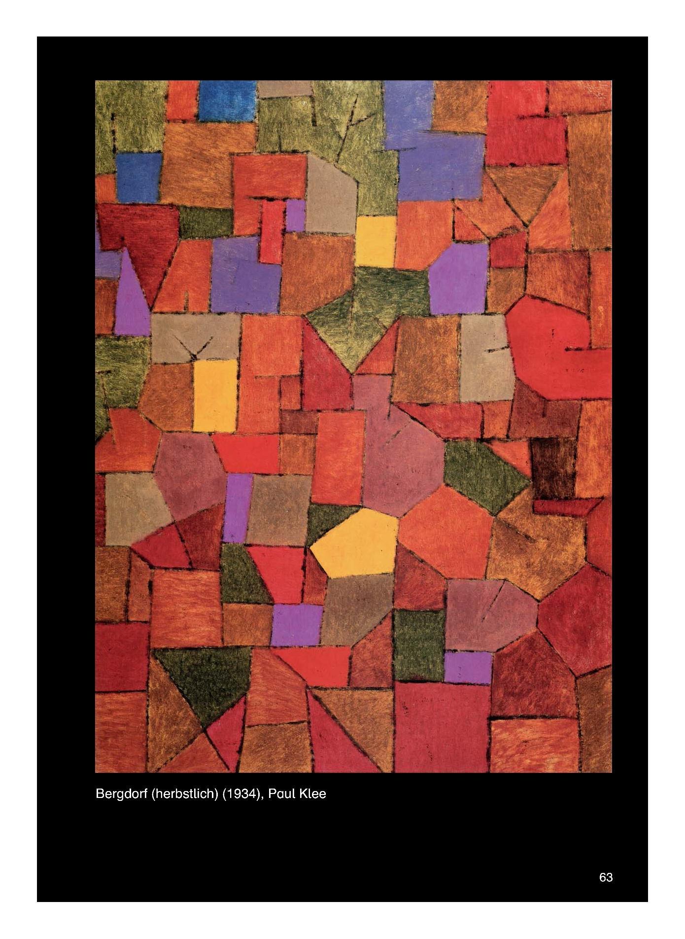 Kunst_Unterrichtseinheit zumThema _Bergdorf (herbstlich)_ von Paul Klee mit biografischen Hinweisen zum Künstler