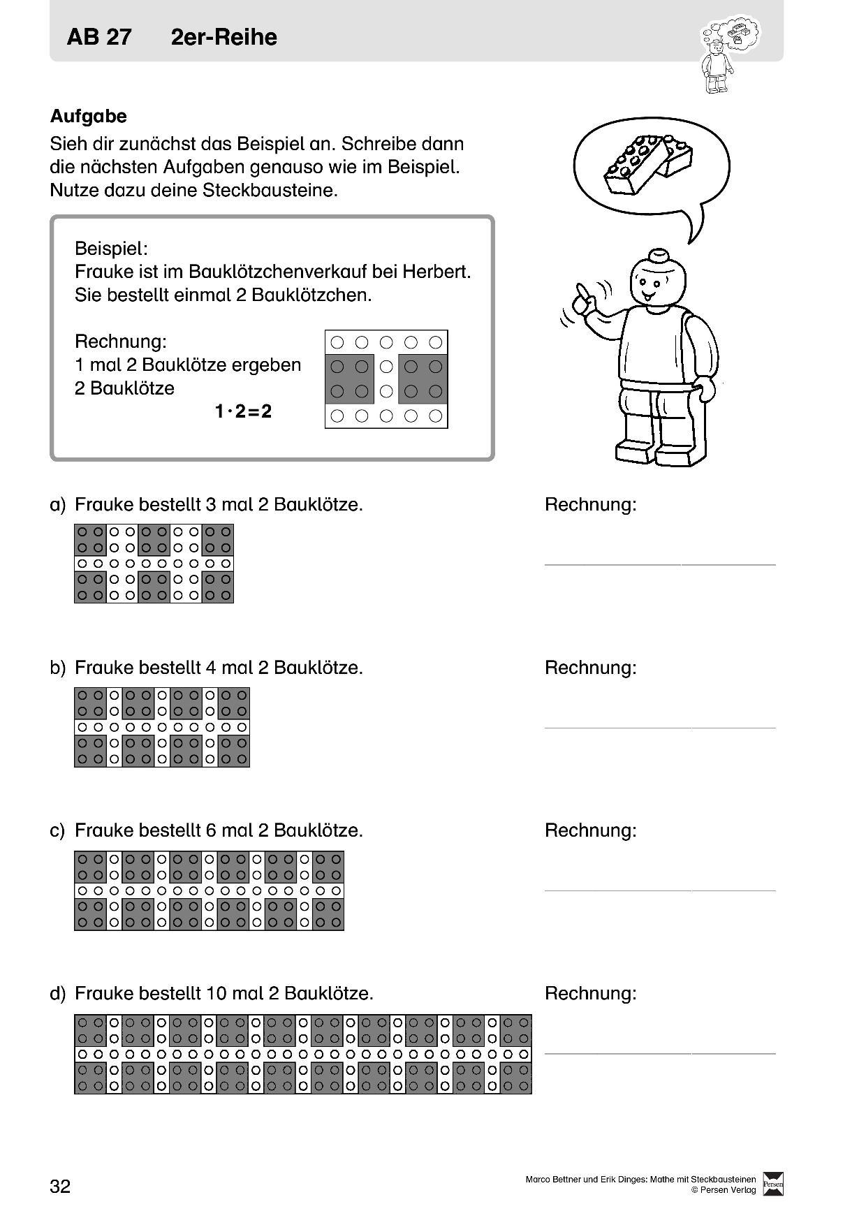 Mathematik_Kopiervorlagen mit praktischen Aufgaben zur Multiplikation
