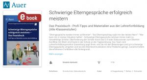 E-Book zum Thema Elternsprechtag