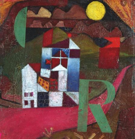 Dieses Gemälde von Paul Klee heißt Villa R und ist Teil des Arbeitsblatts.