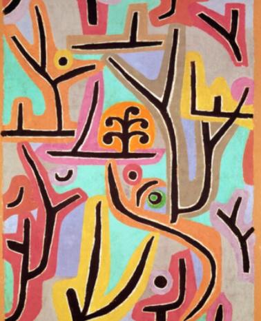 Dieses Gemälde von Paul Klee heißt Park bei Luzern und ist Teil des Unterrichtsmaterials.