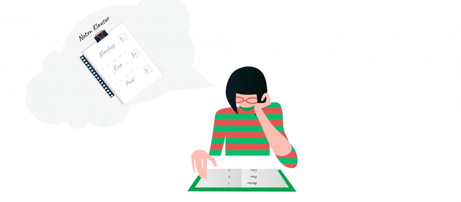 Auf dem Bild ist eine Frau, die ein Buch liest. Jetzt zeigen wir dir interessante Lehrmethoden für die schriftliche Leistungsbewertung.