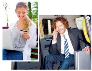 Wir sehen eine Frau, die eine Kreditkarte in der Hand hält, und einen jungen Mann, der telefoniert. Die Schulmaterialien des Raabe Verlags behandeln verschiedene Aspekte bezüglich der Globalisierung.
