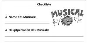 Arbeitsblätter des Auer Verlags zum Thema Medienkompetenz im Fach Musik. Die Schüler und Schülerinnen lösen verschiedene lustige Aufgaben, unter anderem führen sie eine Recherche über Musicals durch.