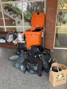 Sammlung von Spenden für obdachlose Menschen