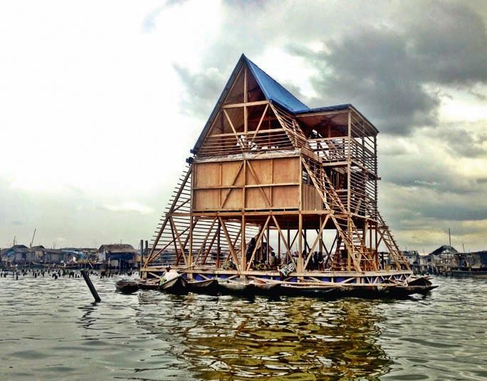 Schwimmende Schule Makoko,Lagos, Nigeria © NLÉ