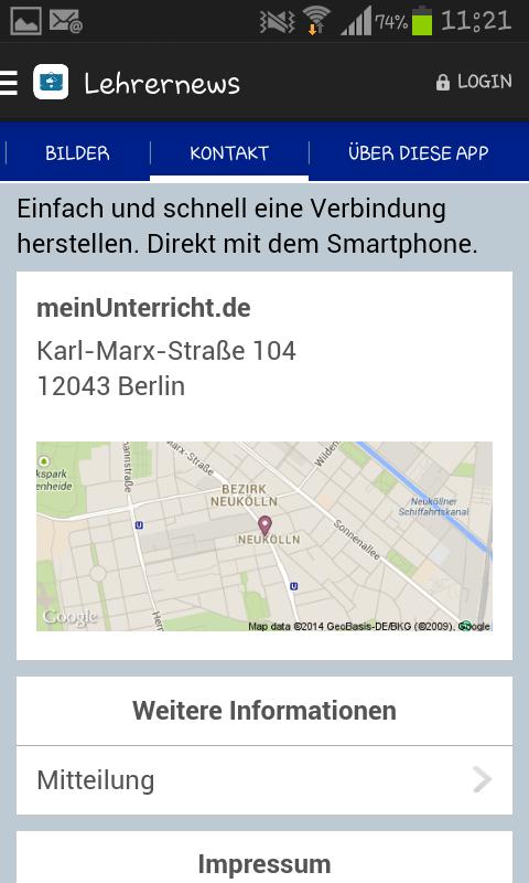 Lehrernews-App Android
